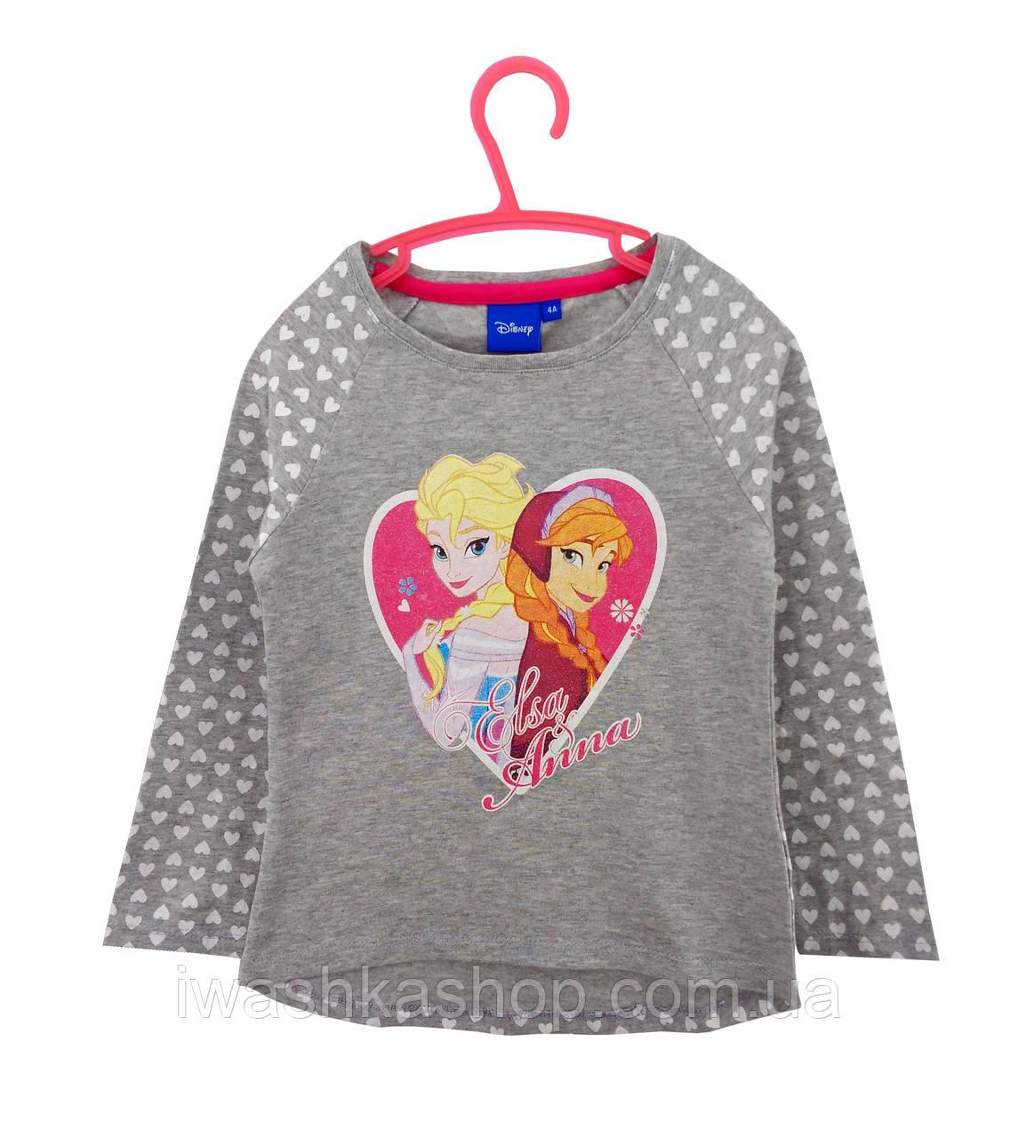 Стильный лонгслив с Анной и Эльзой, Холодное сердце, Frozen, на девочек 8 лет, р. 128, Disney