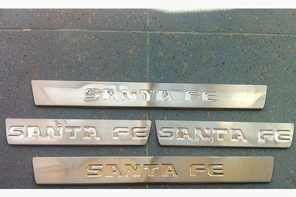 Накладка на пороги Carmos (4 шт, нерж) Hyundai Santa Fe 2 2006-2012 гг.
