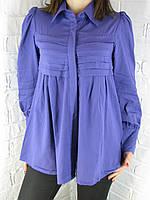 Рубашка женская D 8015 фиолетовая