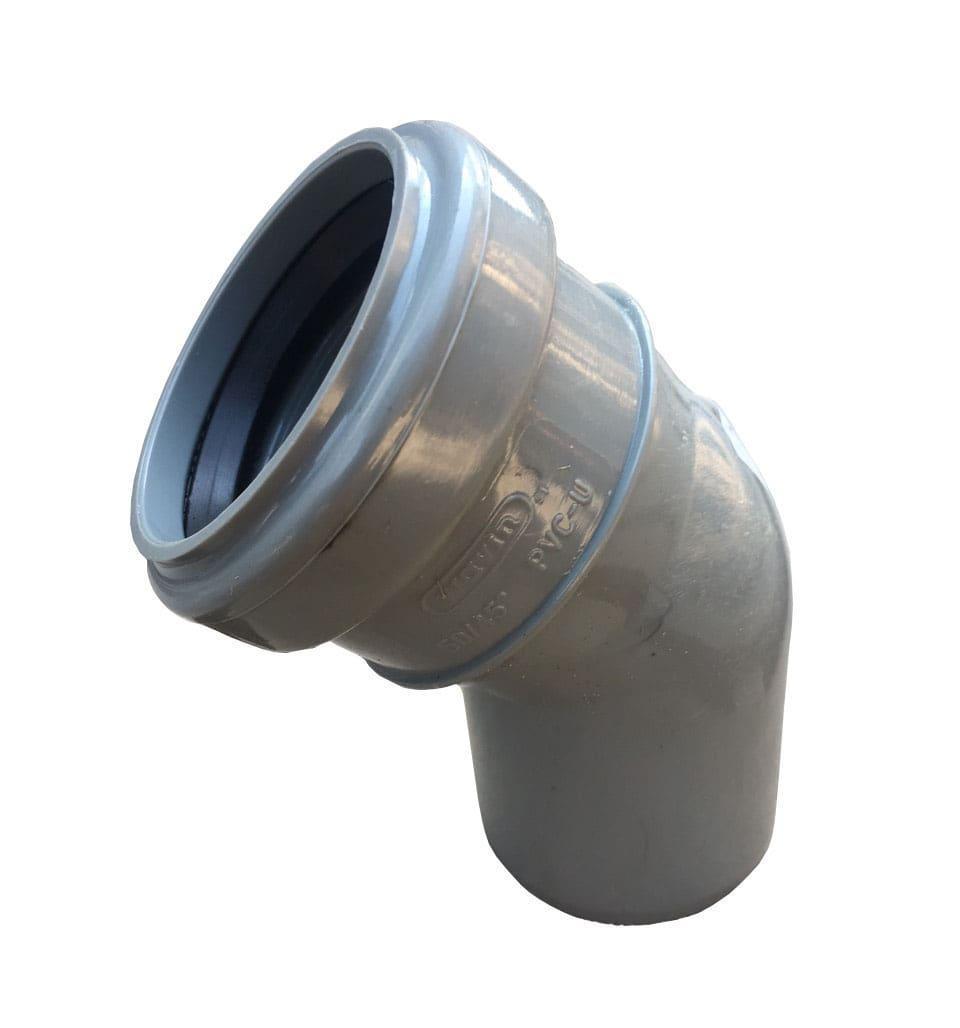 Отвод пвх для внутренней канализации 50*45 wavin