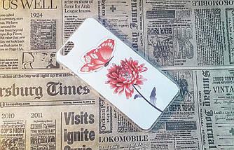 Чехол-накладка Flowers на Iphone 6/6S, White/Red