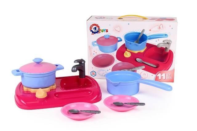 Кухня с набором посуды 5989 ТехноК