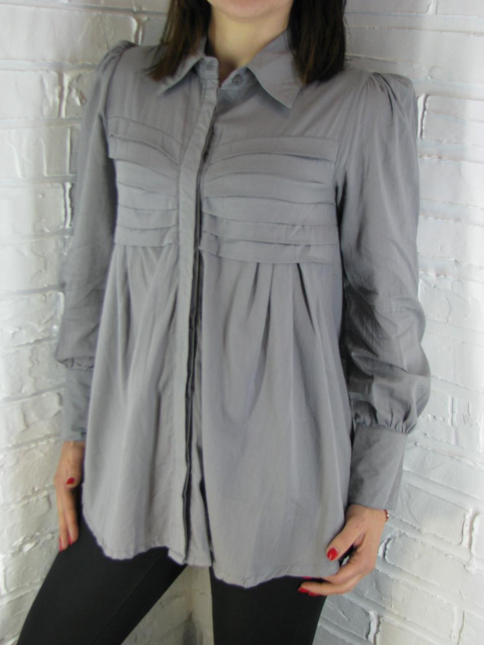 Рубашка женская D 8015 серая