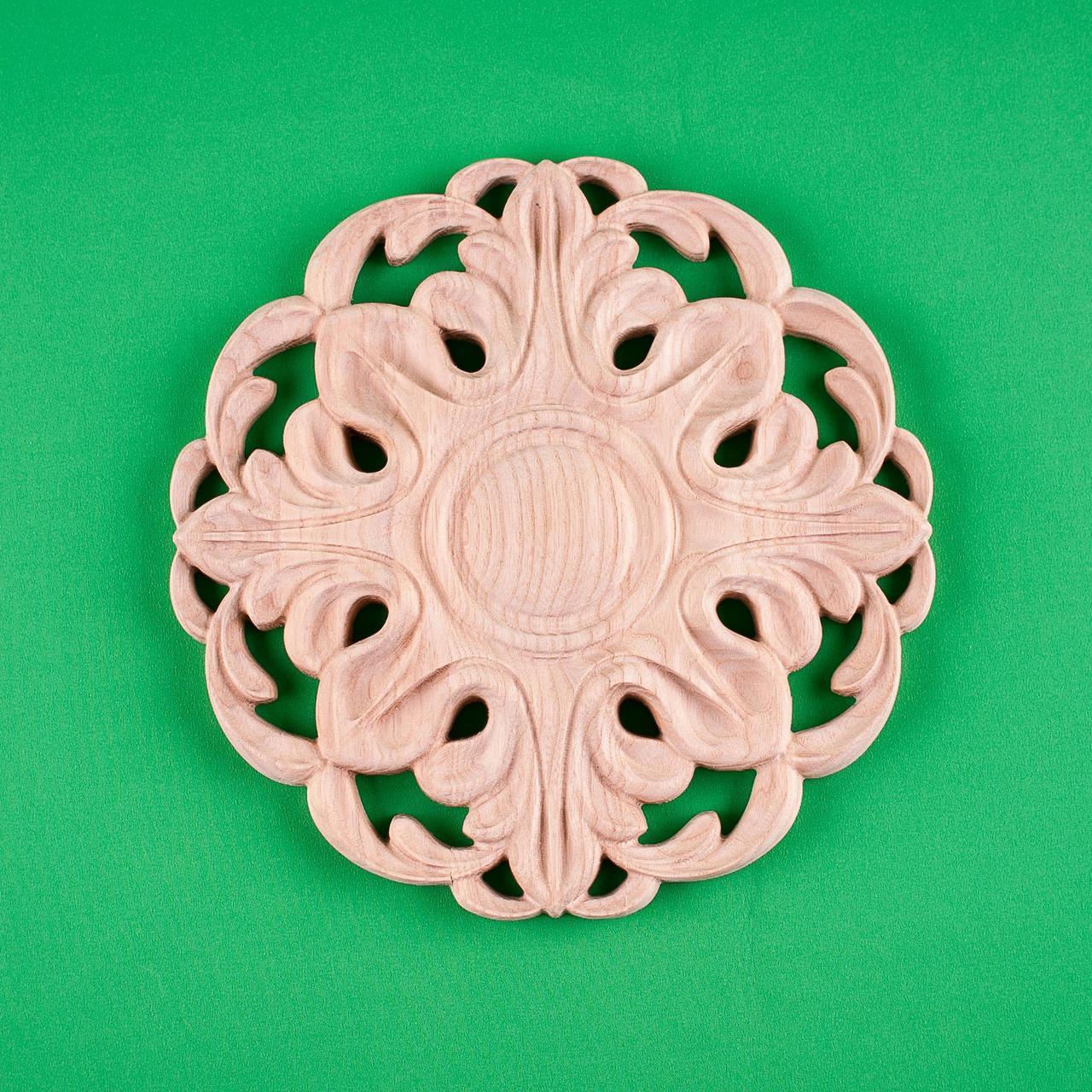 Код ДЦ30. Резной деревянный декор для мебели. Декор центральный
