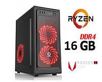 Персональный игровой компьютер ZEN / 4ядра* 3.7GHz / 16Gb_DDR4 / 1000Gb / Radeon_Vega8_DDR4