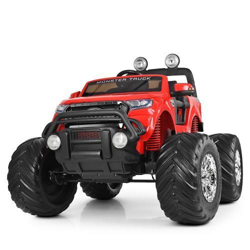 Дитячий електромобіль M 4013EBLR-3 Монстр-Трак червоний