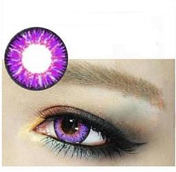 Лінзи контактні фіолетові + контейнер в ПОДАРУНОК