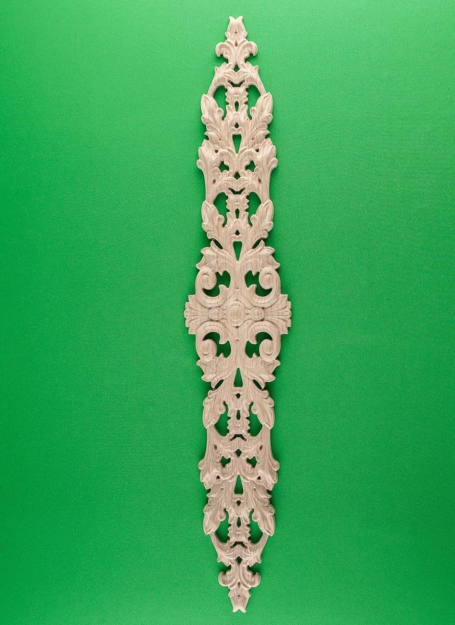 Код ДВ4. Деревянный резной декор для мебели. Декор вертикальный