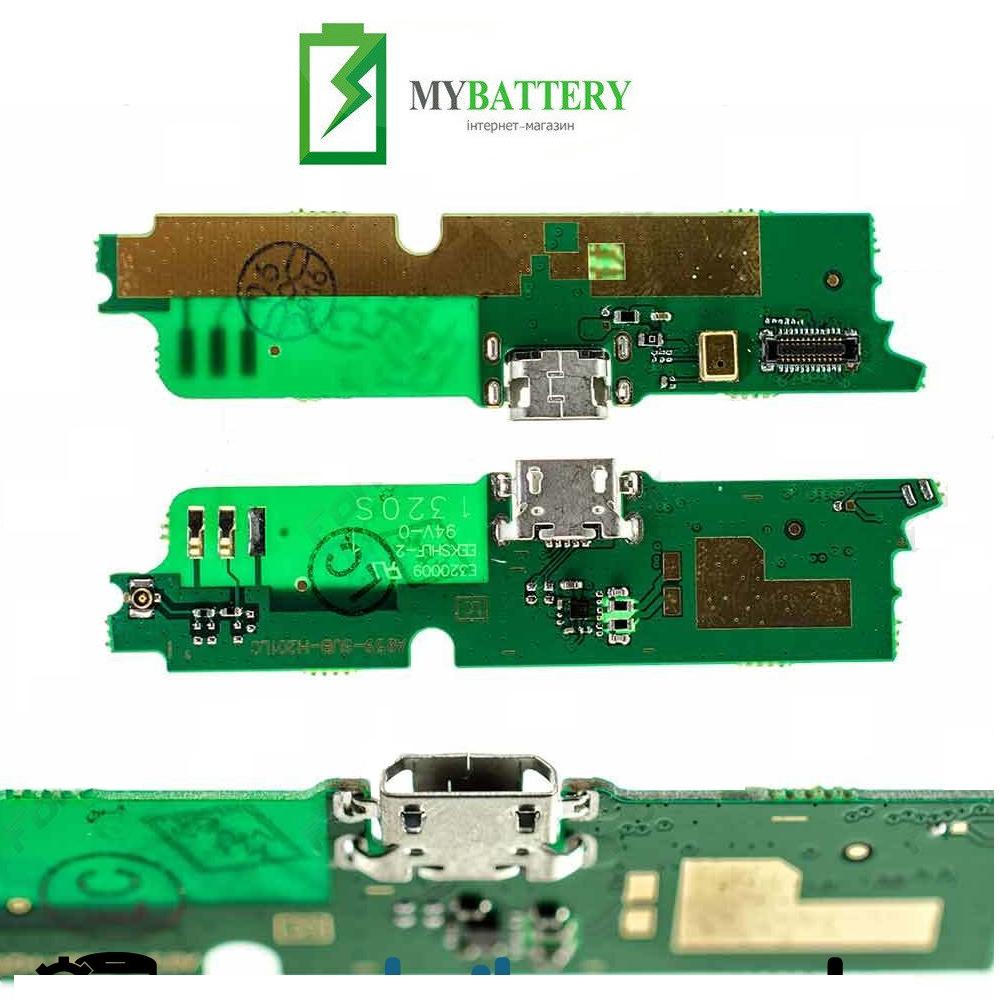 Шлейф (Flat cable) Lenovo A859 с разъемом зарядки, микрофоном, плата зарядки