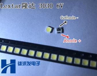 LED світлодіод підсвічування матриць 3030 1.8 Вт 6В, фото 2