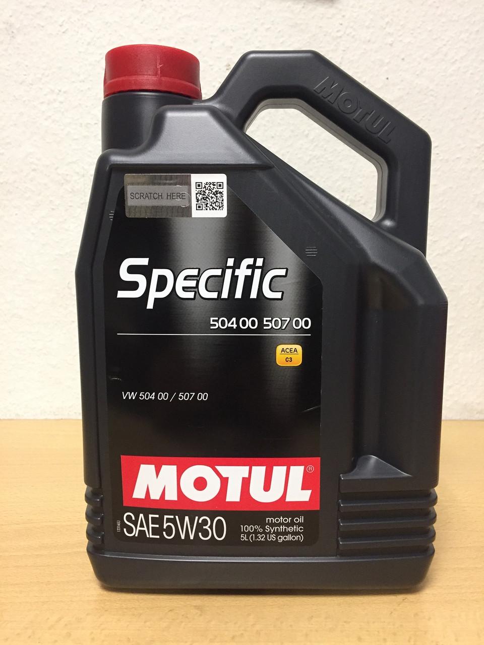 Масло MOTUL SPECIFIC 504.00-507.00 5W-30 5л (101476/106375)