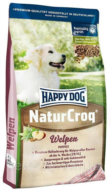 Корм Happy Dog Хэппи дог Natur Croq Welpen для щенков всех пород 15кг