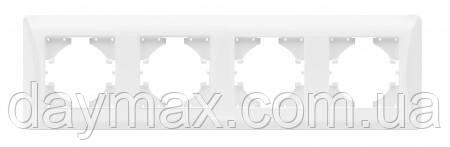 VIDEX BINERA Рамка белая на 4 модуля горизонтальная