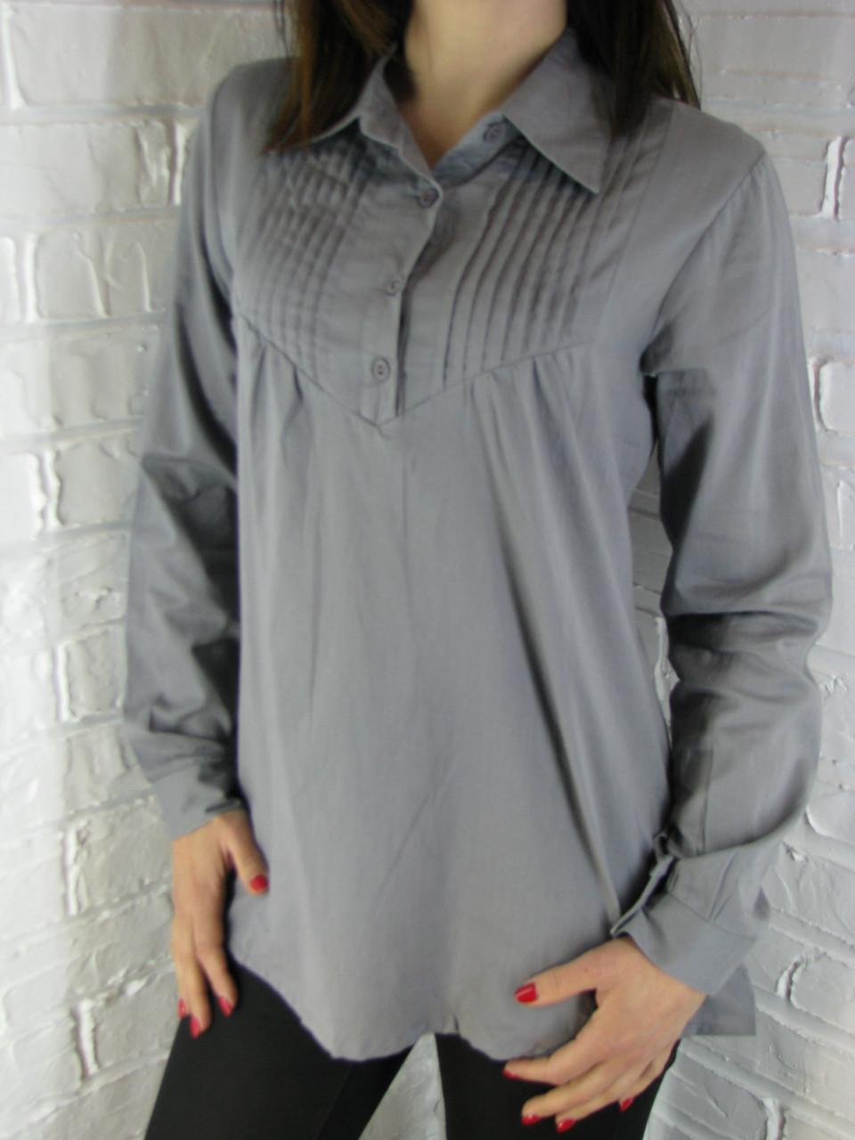 Рубашка женская D 8009 серая