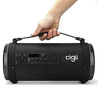 Портативная Bluetooth колонка - бумбокс Cigii К-1201 цветомузыка, 12,3wat, фото 1
