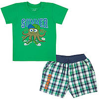 Костюм для мальчика детский KS-19-13-1 *Морской* Зеленый, 82