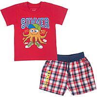 Костюм для мальчика детский KS-19-13-1 *Морской* Красный, 80