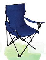 Складное кресло для отдыха, стальная рама, полиэстер, чехол для переноски, нагрузка 80кг, цвет на выбор