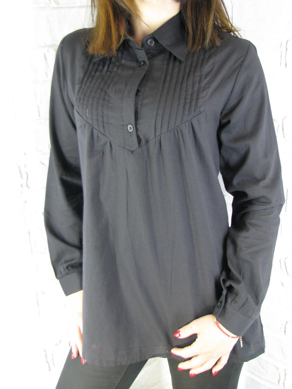 Рубашка женская D 8009 черная