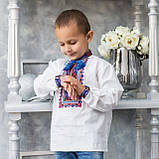 Детская вышиванка на домотканом полотне , фото 3