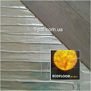 Фольгированный алюминиевый нагревательный мат 6 м2 под ламинат и линолеум Al mat чехия, фото 2