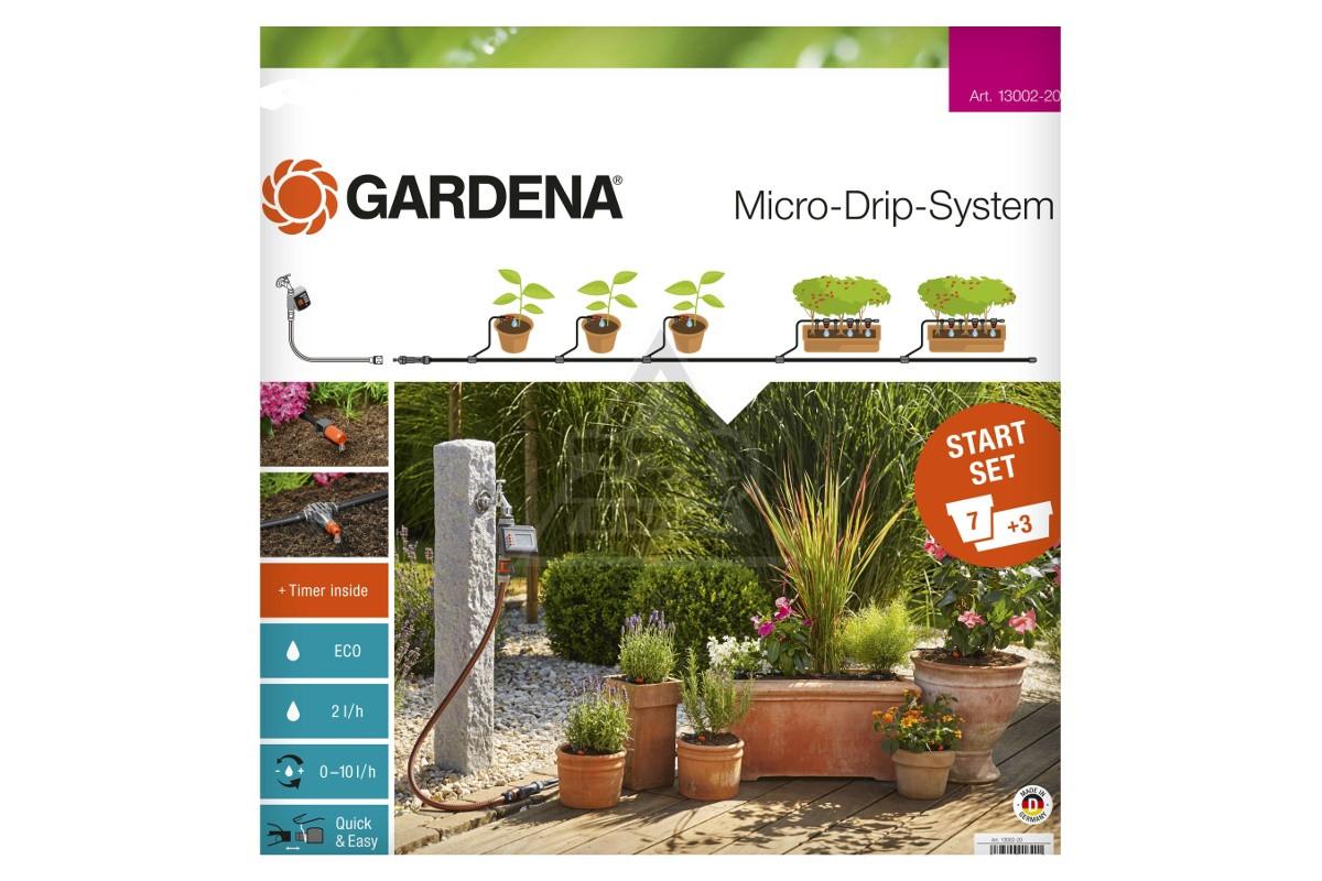 Базовый комплект Gardena для микрокапельного полива с таймером
