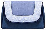 Коляска трансформер Adamex Young  т.синий лен-синий лен-голубой цветы, фото 3