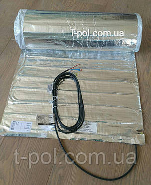 Фольгированный алюминиевый нагревательный мат 10 м2 под ламинат и линолеум Al mat чехия, фото 2