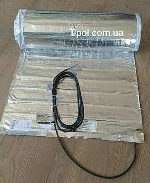 Фольгований алюмінієвий нагрівальний мат 10 м2 під ламінат і лінолеум Al mat чехія, фото 2