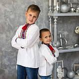 Вышиванка для мальчика на домотканой ткани , фото 6