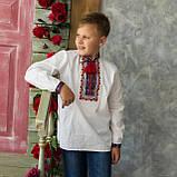 Вышиванка для мальчика на домотканой ткани , фото 2