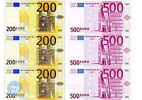 """Вафельная картинка деньги """"Евро 3"""""""