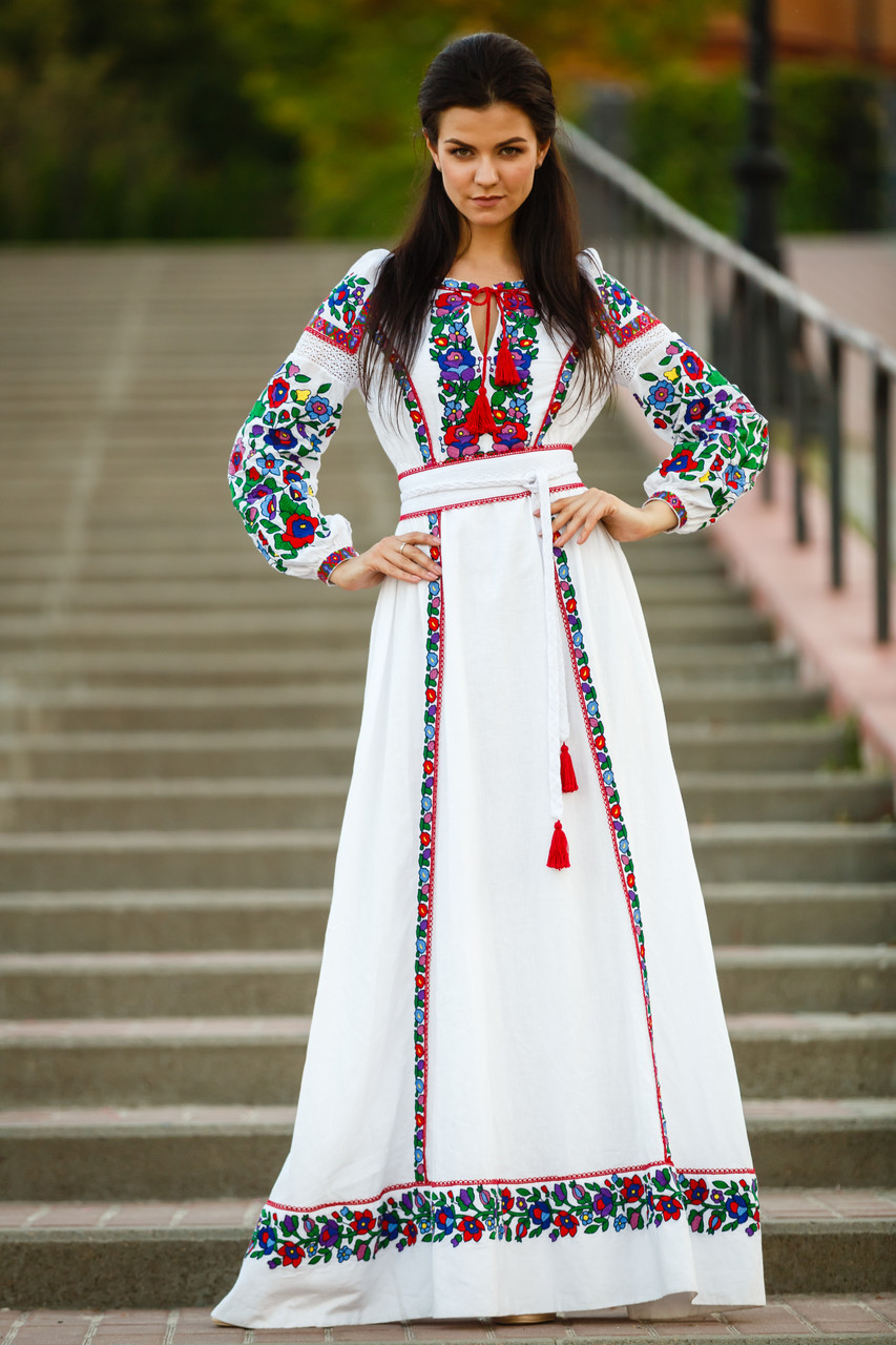 b110a4249bb16c Сукня вишиванка з льону: продажа, цена в Києві. етнічний одяг та ...