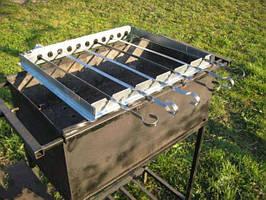 Автоматическое устройство для вращения шампуров «Ленивый шашлычник», 6-10 шампуров, 9-12V