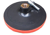 Круг шліфувальний гумовий з липучкою і гвинтом 125 мм GEKO G00322