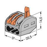 Клемма для распределительных коробок WAGO 222-413, фото 2