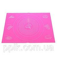 Коврик кондитерский силиконовый с разметкой 68*50 см (цвет коврика в ассортименте)