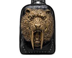 Черный рюкзак Саблезубый тигр