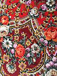 Серебряный ручей 1851-5, павлопосадский платок шерстяной с шелковой бахромой, фото 3