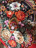 Серебряный ручей 1851-5, павлопосадский платок шерстяной с шелковой бахромой, фото 4