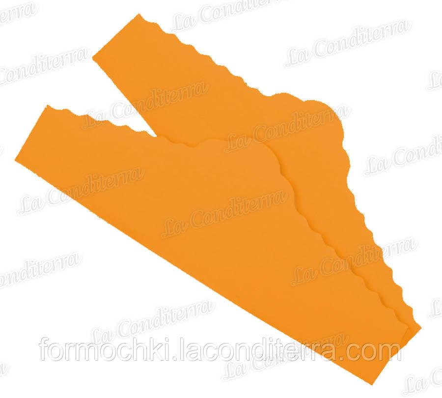"""Помаранчеві серветки з пергаменту для тортів """"Корона"""" (220x75 мм), упаковка - 500 шт."""