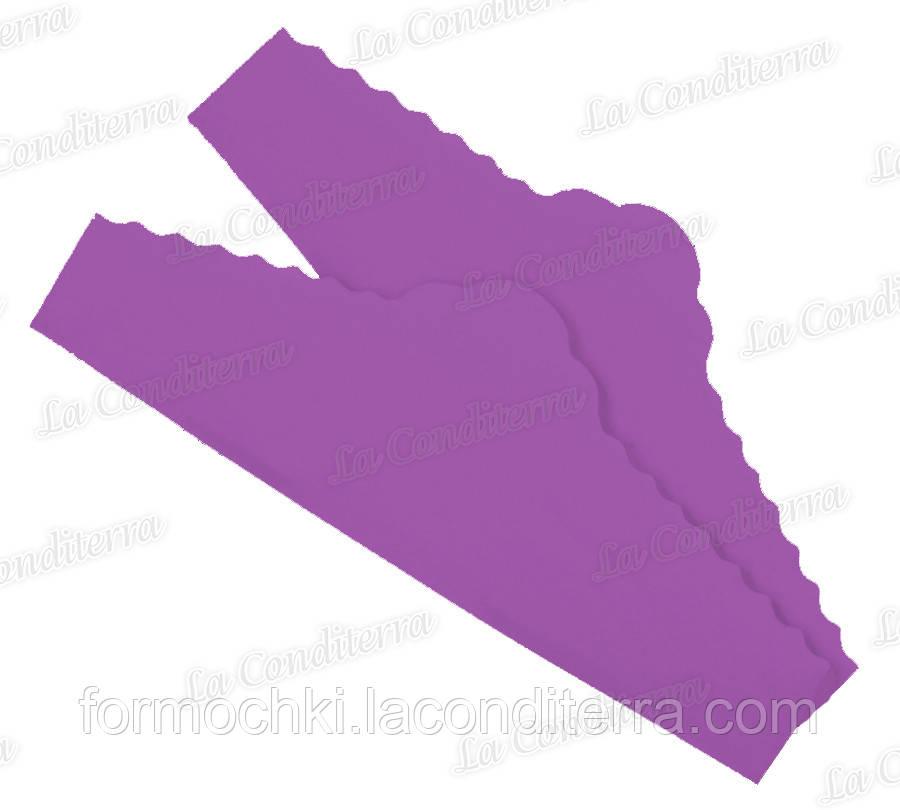 """Пурпурові серветки з пергаменту для тортів """"Корона"""" (220x75 мм), упаковка - 500 шт."""