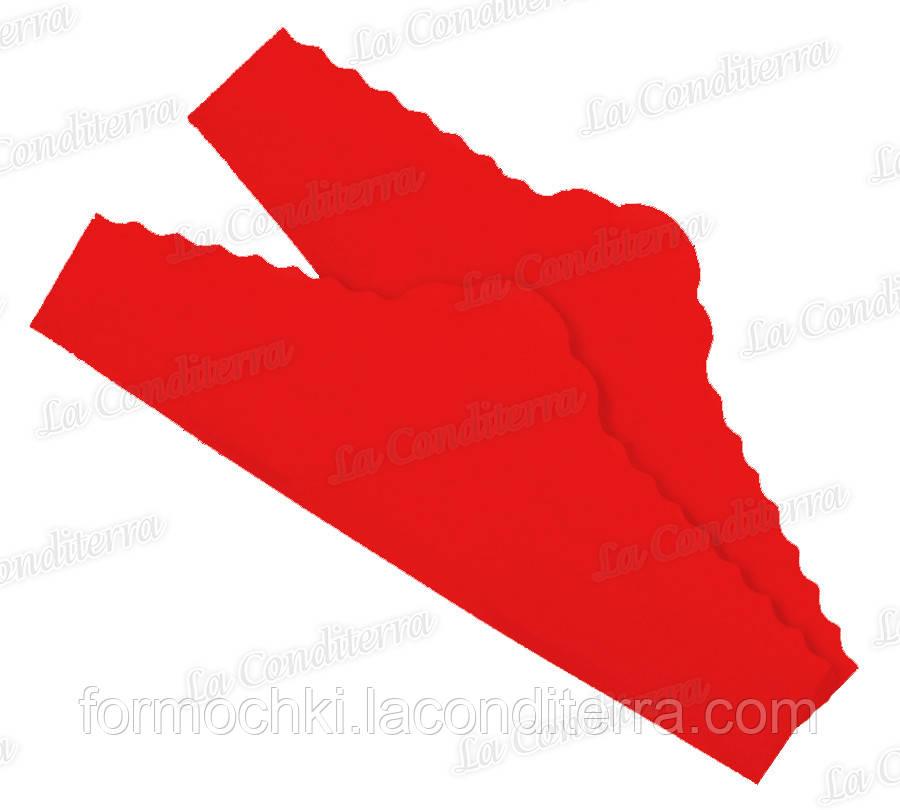 """Червоні серветки з пергаменту для тортів """"Корона"""" (220x75 мм), упаковка - 500 шт."""