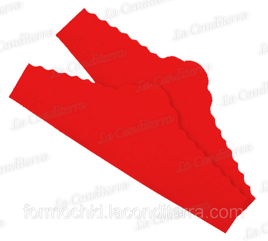 """Красные салфетки из пергамента для тортов """"Корона"""" (220x75 мм), в упаковке - 500 шт."""