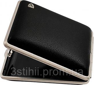 Портсигар VH 901211 для 18 KS/24 слим сигарет Черный кожа Сalypso