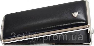 Портсигар VH 904301 для 8 KS/12 слим сигарет кожа Черный