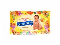 Салфетки влажные Super Fresh для детей и мам №60 (календула) без клапана