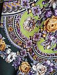 Серебряный ручей 1851-9, павлопосадский платок шерстяной с шелковой бахромой, фото 9