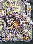 Серебряный ручей 1851-9, павлопосадский платок шерстяной с шелковой бахромой, фото 10