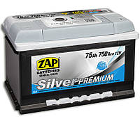 АКБ ZAP 6СТ - 75Аз 750A R+ Silver Premium 275*175*175